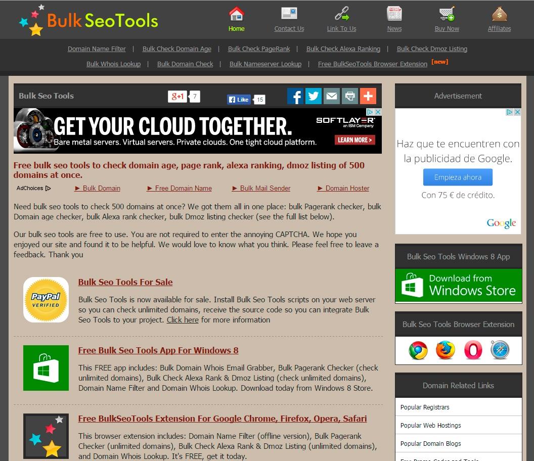 Bulk Seo Tools