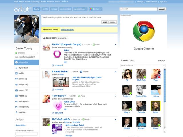 Captura de Orkut