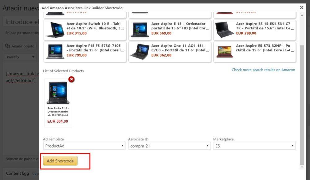 Añadir producto Amazon