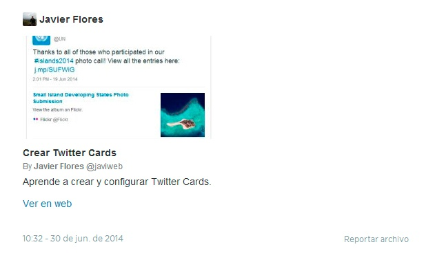 Twitter Card Javier Flores