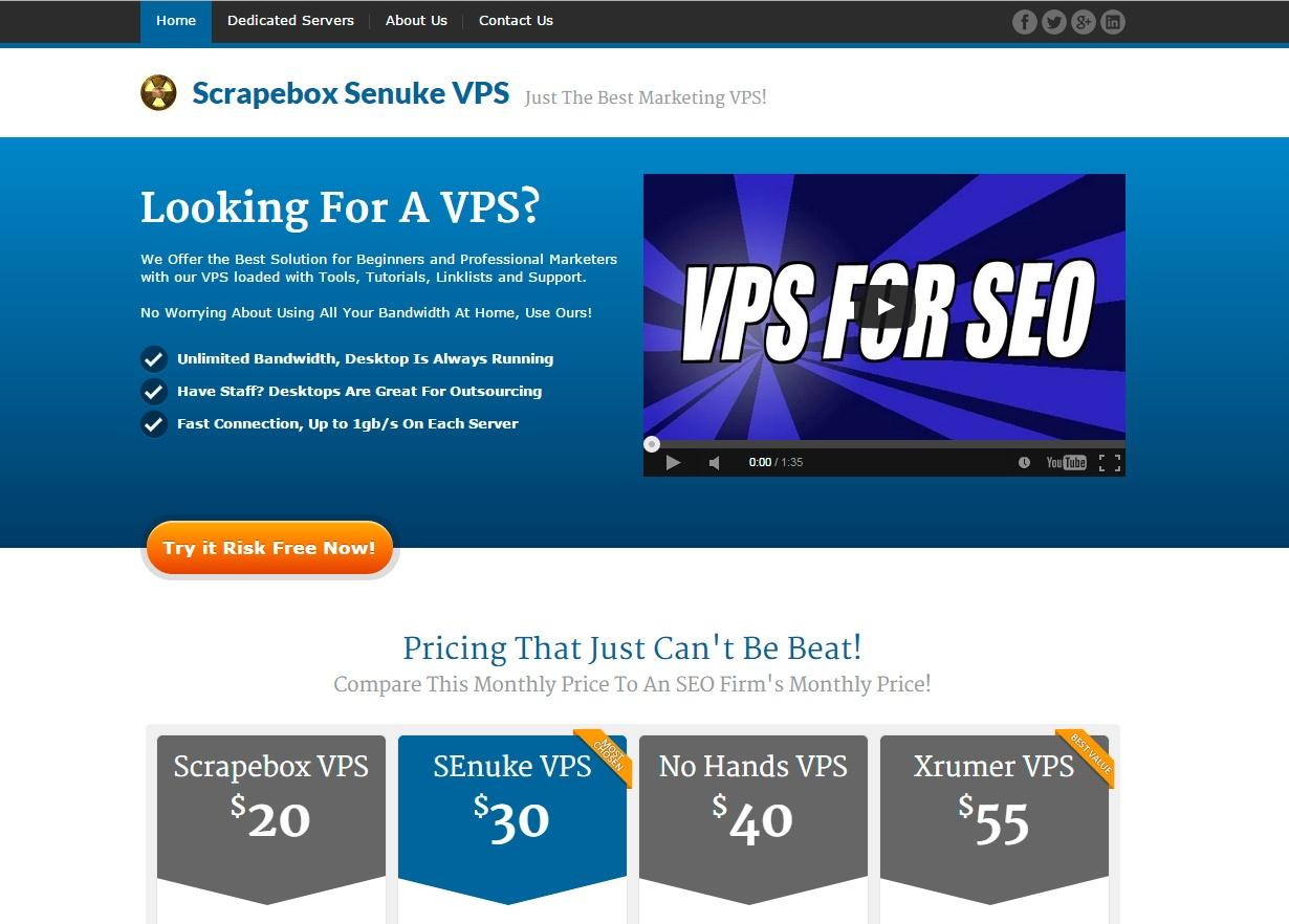 Scrapebox Senuke VPS