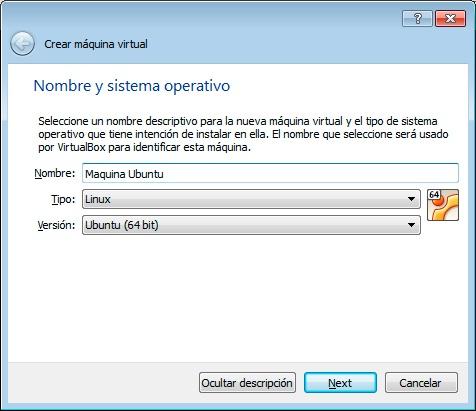 Paso 2 crear máquina virtual