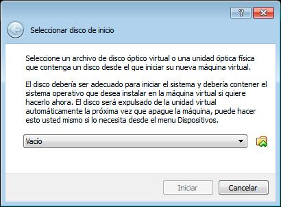 Paso 2 instalar máquina virtual