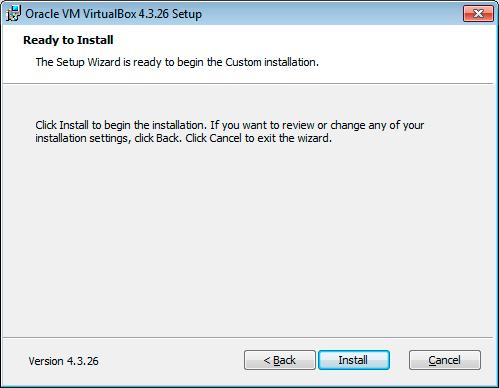 Paso 5 Instalación VirtualBox