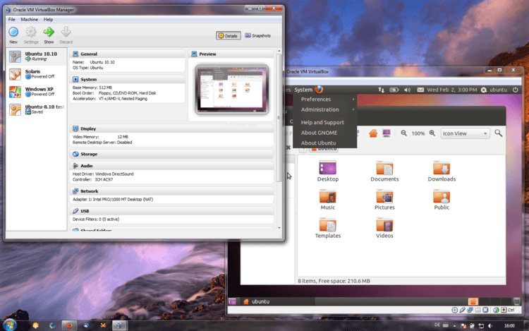Windows7 en VirtualBox
